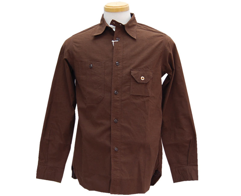 WorkersワーカーズCigarettPocketShirtBrown【smtb-k】【kb】