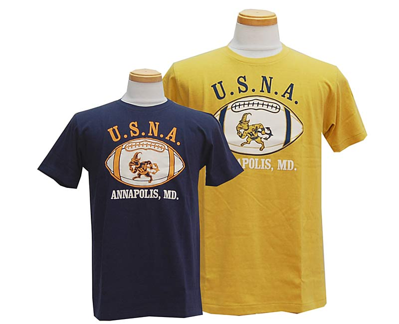 WAREHOUSEウエアハウスTシャツ【WAREHOUSE×U.S.NAVALACADEMY】U.S.N.A.FOOTBALL19/天竺【smtb-k】【kb】